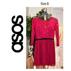 BEAUTIFUL ASOS RED DRESS SIZE 8